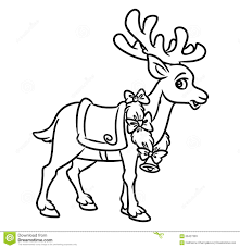 Small Picture Christmas Santa Reindeer Coloring Pages Stock Illustration Image