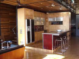 interior: Rustic Wooden Wall Design Idea For Kitchen Room Area Feat  Pleasant Mini Bar And