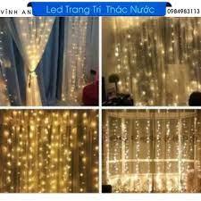 Dây đèn led trang trí mành mưa 3x2,7. vàng nắng. tại Vĩnh Phúc