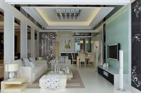 Partition For Living Room Living Room With Glass Doors And Curtains Download 3d House