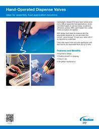 Hand Operated Dispense Valves Nordson Efd Pdf Catalogs