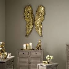 decorative antique gold angel wings wall art