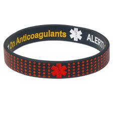 on anticoagulants reversible cal id bracelet