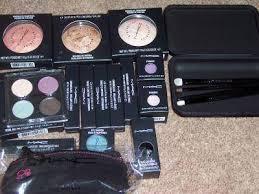 mac makeup set and brush set image