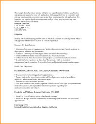 Dental Assistant Resume Objective Examples 4 Invest Wight