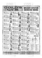 Gold Gym Workout Chart Image Result For Golds Gym Weight System Exercise Guide