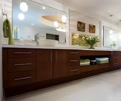 Amazing Contemporary Cherry Bathroom Cabinets By Kitchen Craft Cabinetry ... Design