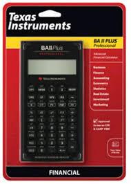 Financial Calculator Texas Instruments Advanced Financial Calculator Ba Ii Plus Professional