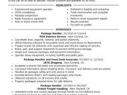Package Handler Resume Sample 8 Material Handler Resume Samples