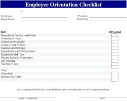 Sample Orientation Checklist For New Employee New Employee Checklist Template Sample Orientation Ppt Haydenmedia Co