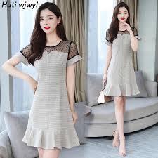 2019 New Vintage Black Lace <b>Sexy</b> Mini Dresses Summer Plus Size ...