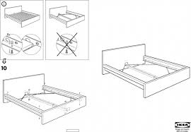Bedding Charming Ikea Malm High Bed Assembly Detailed Youtube