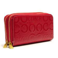 Best Style Coach In Signature Large Red Wallets Ary Outlet RXSfD