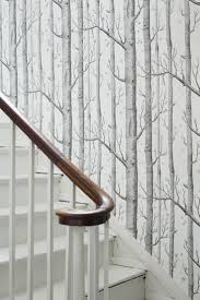 Stairway Wallpaper Design Woods And Stars By Cole Son Black And White Wallpaper
