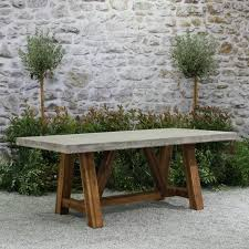 stylish and durable teak furniture pieces best 25 concrete outdoor table ideas on intended for