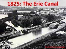 Image result for 1825 the Erie Canal