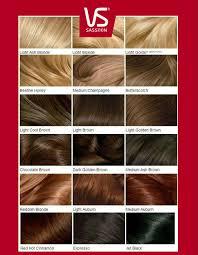 Vidal Sassoon Hair Color Chart