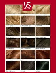 Elgon Hair Color Chart Vidal Sassoon Hair Color Chart