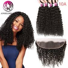 Angelbella 3/4 Bundles Weave Deals Brazilian Hair Bundle With ...