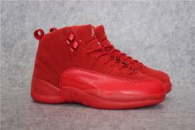 gucci 12s jordans. air jordan 12 retro gs red suede girls womens jordans 12s basketball shoes sd40 online gucci