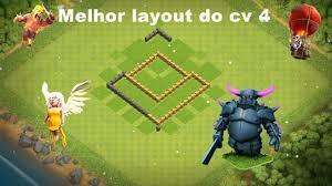 Melhor Layout De Defesa Do Cv 4 Clash Of Clans Youtube