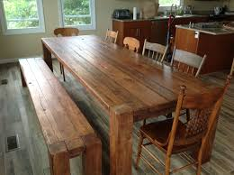 diy reclaimed wood dining table. furniture, make your own solid brown reclaimed wood dining table with bench diy