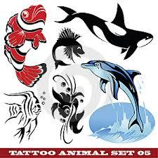 šablony Tetování Delfín