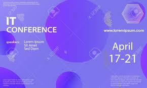 Seminar Design Template Conference Announcement Seminar Design Template Violet Color