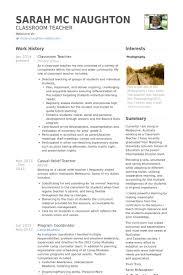 Resume CV Cover Letter  substitute teacher resume and get