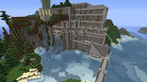 minecraft mountain side house mountainside project home plans