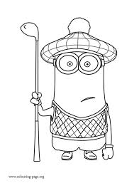 Small Picture Despicable Me Minion Golfer coloring page