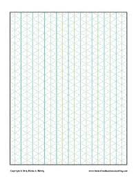 Isometric Graph Paper Blank 3d Free
