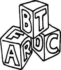 A B C Box Cube Coloring Page | Wecoloringpage