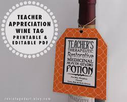 Diy Wine Bottle Labels Printable Teacher Tags Teacher Wine Gift Tags Teacher