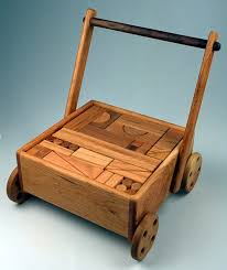 block wagon toy with 100 unit blocks