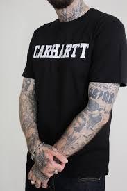 <b>Футболка CARHARTT S/S College</b> T-Shirt Black/White купить в ...