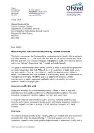 4 July 2019 Gladys Rhodes-White Interim Strategic Director Department of  Children's Services City of Bradford Metropolitan Dis