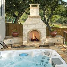 outdoor patio fireplace pit sit back and relax on a patio or in a hot tub