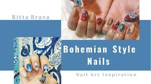 Boho Nails - Bohemian Style Nail Art - YouTube