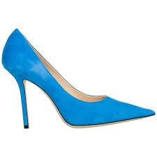 Blue Designer Heels Womens Suede Pumps Court Shoes High Heel Love 100 In Blue
