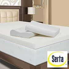 memory foam mattress topper 4 inch. Modren Inch Serta 4inch Memory Foam Mattress Topper With Contour Pillows Queen With 4 Inch N