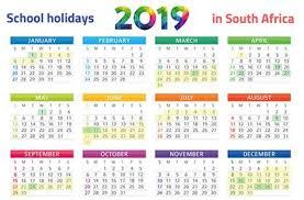 Free Printable School Calendar Print It Sas School Holidays 2019 Calendar Parent24