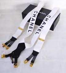 chanel suspenders. chanelsuspenders. would you wear these chanel suspenders? suspenders