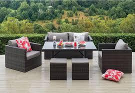 elegant outdoor lounge dining furniture harbour 6 piece outdoor lounge dining set super amart