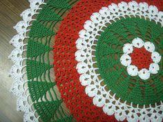 Christmas Tree Skirt Crochet Pattern Fascinating Christmas Tree Skirt Christmas Pinterest Reception Tree