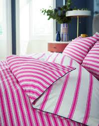 pink stripe duvet cover