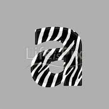 zebra font lower case a 3d ilration royalty free stock photos ilrations and 3d letters fonts