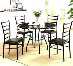 granite dining room table dining room dazzling contemporary dinette sets with round black granite table top plus ladder back dining chairs on cream area rug