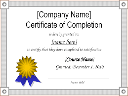 4 Sample Certificate Of Completion Teknoswitch