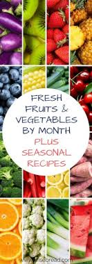 Fresh Fruits And Vegetables By The Month